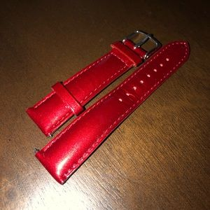 Red Patent Leather Michele 20 MM Watch Band